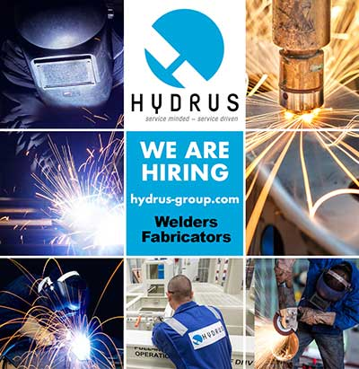 subsea technicians working at Hydrus facility
